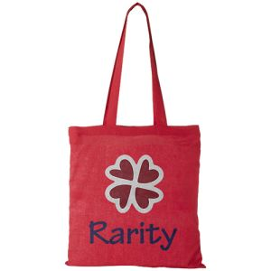 Middleweight Coloured Cotton Tote Bags in Red