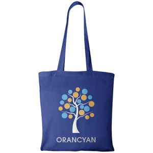 Middleweight Coloured Cotton Tote Bags in Royal Blue