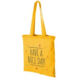 Middleweight Coloured Cotton Tote Bags in Yellow