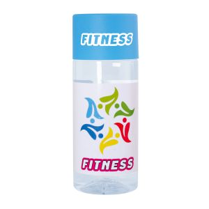 Corporate Branded Bottles of Water for Business Cyan Lids