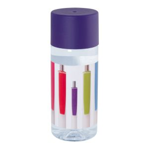 Full Colour Printed Bottles of Water Purple Lids