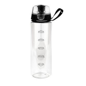 Stay Hydrated Water Bottles in Clear/Black