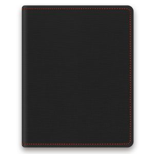 RFID Protected PU Passport Holders in Black/Red