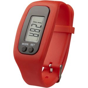 Logo Engraved Step Counter Smartwatches for Business in Red