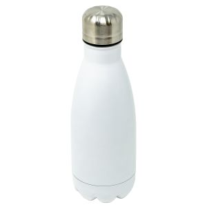 Branded Stainless Steel Water Bottles in Matt White