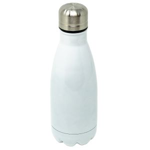 Branded Metal Water Bottles in Gloss White