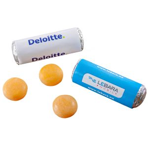 Logo Printed Mentos Fruits and branded Sweets