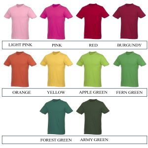 Promotional Tee Shirt Colours 2