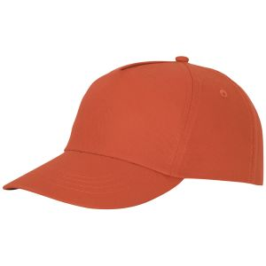 Feniks 5 Panel Cotton Cap in Orange