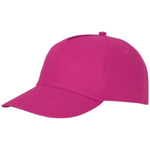 Feniks 5 Panel Cotton Cap in Pink