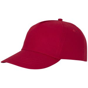 Feniks 5 Panel Cotton Cap in Red