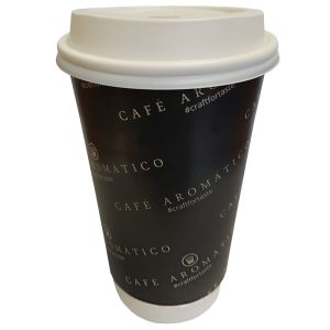 Custom Printed 16oz Biodegradable Paper Cups for Business