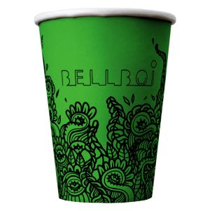 Promotional 8oz Biodegradable Single Walled Paper Cups