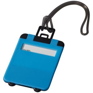 Taggy Luggage Tags in Neon Blue