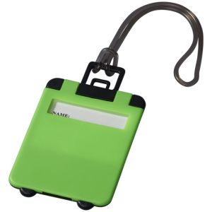 Taggy Luggage Tags in Neon Green