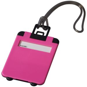Taggy Luggage Tags in Neon Pink