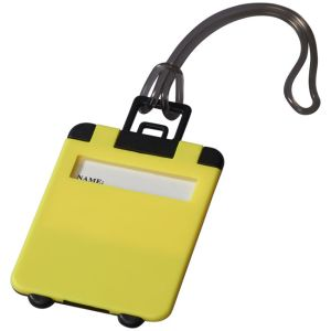 Taggy Luggage Tags in Neon Yellow