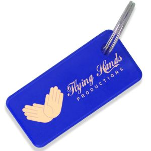 Blue Printed Recycled Keyrings as Corporate Giveaways