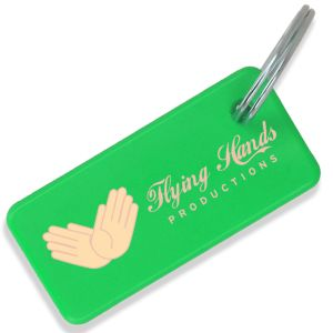 Green Logo Printed Recycled Plastic Keyfobs for all Businesses