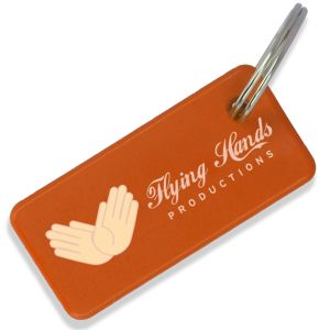 Orange Promotional Eco Keyrings at Great Low Prices