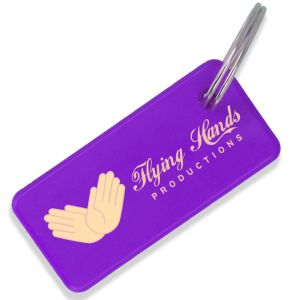 Purple UK Made Recycled Plastic Keyrings Promotional Giveaways