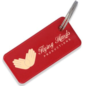 Red Branded Eco-Friendly Keyrings Corporate Giveaways