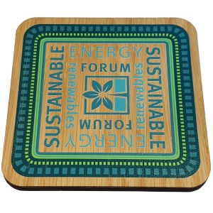 Oak Finish Promotional Ply Wood Coasters UK Made