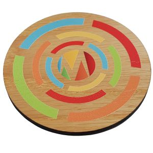 Corporate Branded Wooden Coasters Marketing Giveaways