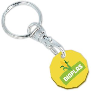 Yellow Custom Branded Biodegradable Plastic Trolley Coins