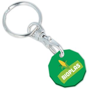 Green Branded Eco Trolley Coins Promotional Giveaways