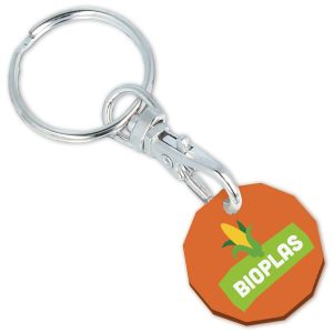 Orange Logo Printed Eco Keyrings for Marketing Campaigns