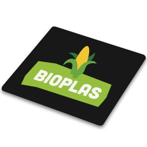 Black Branded Biodegradable Plastic Coasters with your Logo