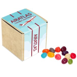 Promotional Jelly Beans in Eco Kraft Cubes