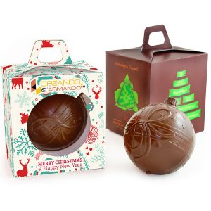 Branded chocolates are always popular promotional gifts for customers - and they'll love these chunky chocolate baubles!