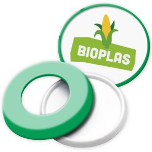 Green Promotional Bioplastic Safety Pop Button Badges