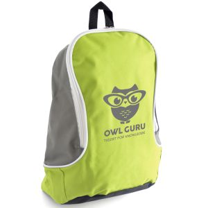 Lime Green Logo Printed Backpacks & Promotional Bags