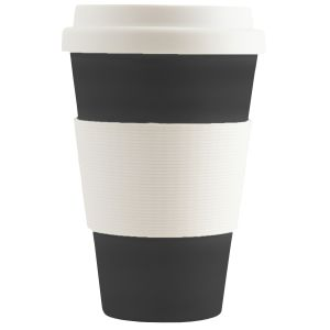 Black Branded Eco-friendly Reusable Coffee Cups for Business
