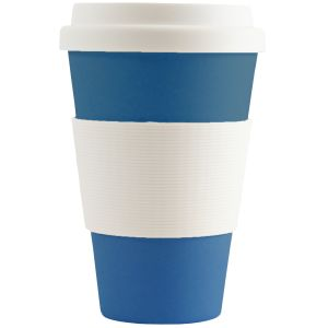 Blue Printed Take Away Coffee Cups for Marketing Campaigns