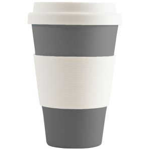Grey Logo Printed Reusable Coffee Cups at Great Low Prices