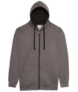 Logo Printed Hoodies in Charcoal/Jet Black