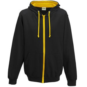Branded Hoodies for Business in Jet Black/Gold