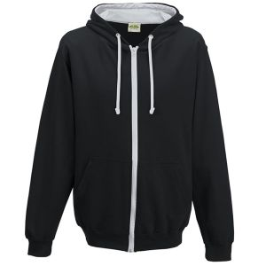Printed Hoodies for Marketing Gifts in Jet Black/Heather Grey