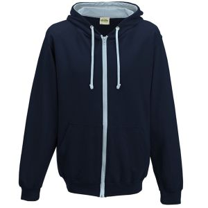 Branded Hoody AWD Corporate Gifts in New French Navy/Sky Blue
