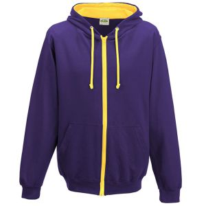 Promotional Hoody with your Logo in Purple/Sun Yellow