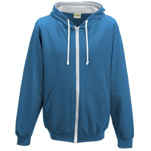 Branded Hoody Promotional Gifts in Sapphire Blue/Heather Grey