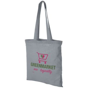 Grey Promotional Printed Cotton Bags for Events