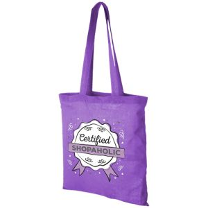 Lavender Promotional Printed Cotton Bags With Logo