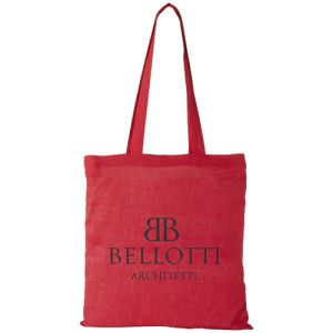 Red Branded Tote Bags Made From Natural Cotton