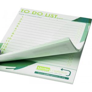 Custom branded Desk Notepads printed with business message