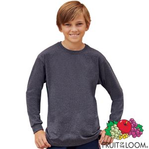 Branded Valueweight Childrens Long Sleeve T Shirts for Marketing